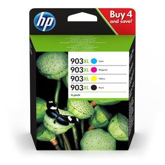 Pack 4 Tinteiros HP Inc 903XL Ciano, Magenta, Amarelo e Preto