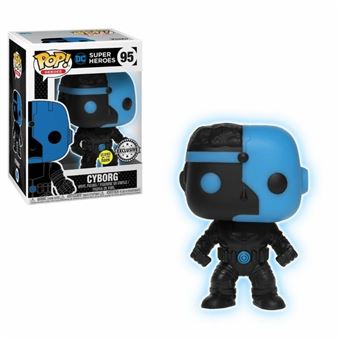 Funko Pop! DC Comics - Cyborg Glow In The Dark Justice League Silhouette Exclu Pop 10cm - 95