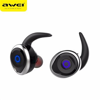 Auriculares Bluetooth Magunivers AWEI T1 Verdadeiro à Prova de Água IPX4 sem Fios para o iPhone 7 Samsung Nota 8 Prateado