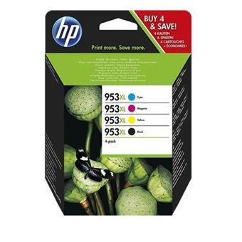 Pack 4 Tinteiros HP Inc 953XL Blister Ciano, Magenta, Amarelo e Preto