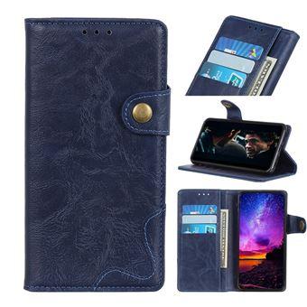 Capa Magunivers | PU + TPU pele de cavalo louco de forma s Azul para Xiaomi Mi Note 10/Mi CC9 Pro