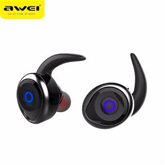 Auriculares Bluetooth Magunivers AWEI T1 Verdadeiro sem Fios com Microfone para iPhone 7 Samsung Nota 8 Preto