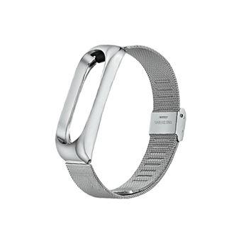 Pulseira de aço inoxidável WISETONY para Xiaomi Mi Band 3 /4 Silver
