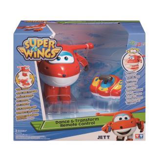 Brinquedo telecomandado Super Wings Dance & Transform Remote Control Jett Aeronave Vermelho e Branco