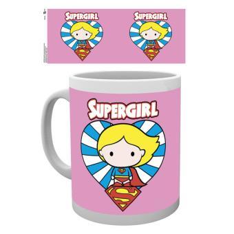 Caneca de Cerâmica GB Eye DC Comics Justice League Supergirl Chibi