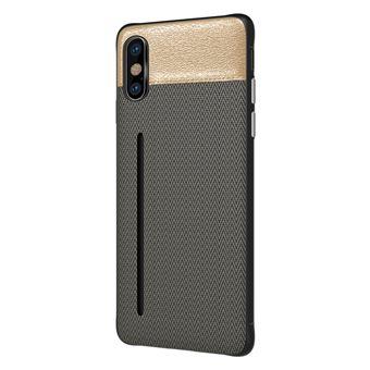 Capa Bicolor WISETONY para Apple iPhone 7 / 8 Cinzento e Dourado