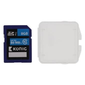 cartão de memória König 8GB SDHC 8GB SDHC UHS-I Class 10  Preto e Azul