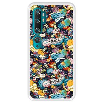 Capa Tpu Hapdey para Xiaomi Mi Note 10 - Note 10 Pro - Cc9 Pro | Design Padrão de Constelação | Galáxia 5 - Transparente