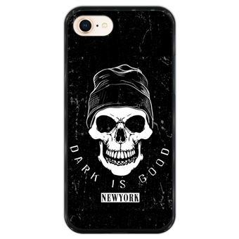 Capa Hapdey para iPhone 7 - 8 Design Caveira Dark is Good em Silicone Flexível e TPU Preto