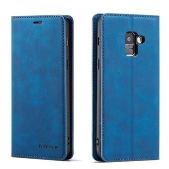 Capa Magunivers PU com suporte azul para Samsung Galaxy A8 (2018)
