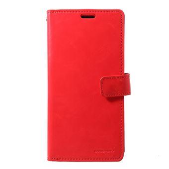 Capa Magunivers PU diário mansoor vermelho para Samsung Galaxy S10
