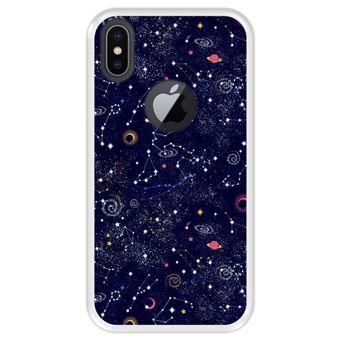 Capa Tpu Hapdey para Iphone X - Xs | Design Padrão de Constelação | Galáxia - Transparente