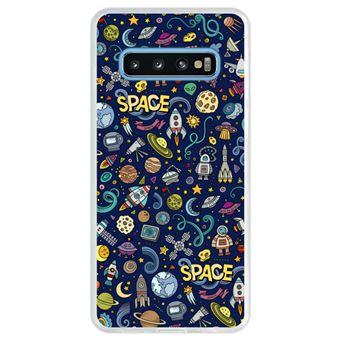 Capa Hapdey Para Samsung Galaxy S10 Design Resumo Objetos e Símbolos Espaciais Capa de Silicone Flexível Em TPU - Transparente