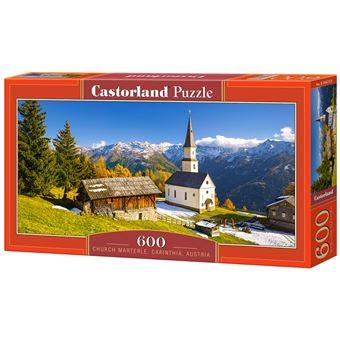 Puzzle Castorland Church Marterle, Carinthia, Austria 600 Peças
