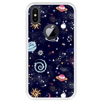 Capa Tpu Hapdey para Iphone X - Xs | Design Padrão de Constelação | Galáxia 2 - Transparente
