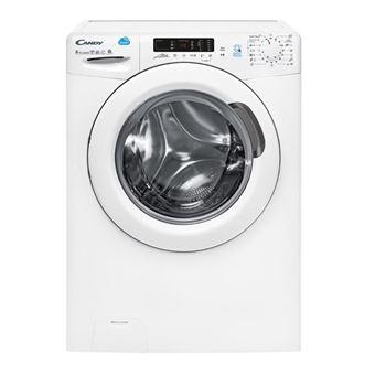 Máquina de Lavar e Secar Roupa Carga Frontal Candy CSW 485D-S 8Kg A Branco