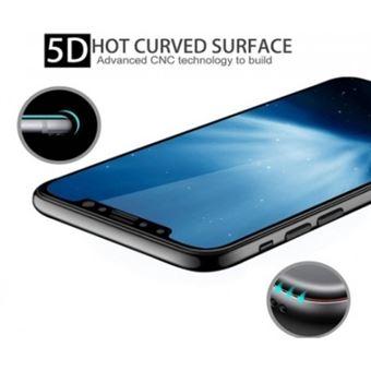 Película Ecrã de Vidro Temperado Lmobile 5D Full Cover para iPhone X Preto