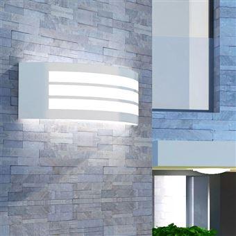 Candeeiro de Parede vidaXL exterior aço inoxidável 10 cm