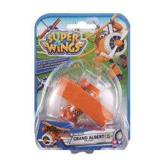 Figura de acção Transform-a-Bot Super Wings Die-cast Grand Albert Metal Laranja e Branco
