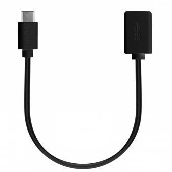 Cabo USB PURO CUSBC31USB30F02 0.2m USB C USB A Preto