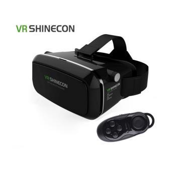 Óculos Realidade Virtual 3D VR Shinecon com Comando Bluetooth
