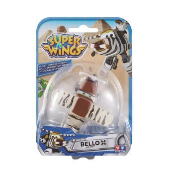 Figura de acção Transform-a-Bot Super Wings Die-cast Bello Metal Preto e Castanho e Branco
