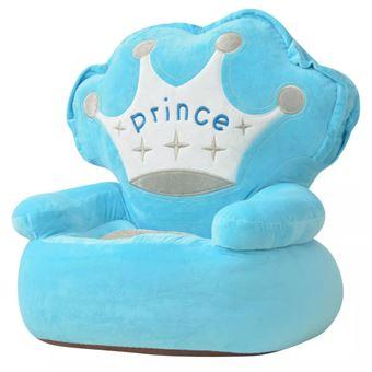 Cadeira em pelúcia vidaXL infantil príncipe azul 52x48x50 cm
