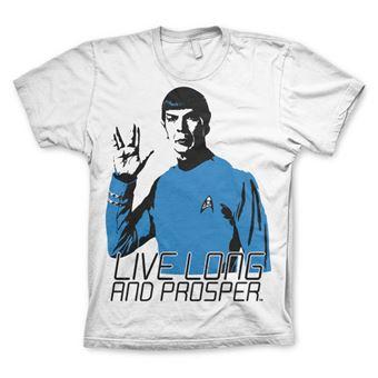 T-shirt Star Trek - Live Long And Prosper   Branco   L