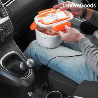 Lancheira Elétrica para o Carro InnovaGoods 40W 12 V Branco Laranja