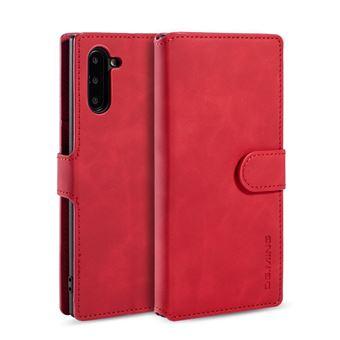 Capa Magunivers PU Estilo Retro com Apoio Vermelho para Samsung Galaxy Note 10/Note 10 5G