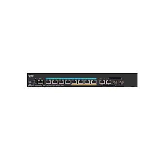 Cisco Small Business SG350X-8PMD Gerido L2/L3 Gigabit Ethernet (10/100/1000) Preto 1U Apoio Power over Ethernet (PoE)