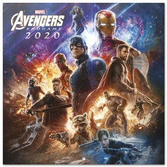 Calendário 2020 Grupo Erik 30X30 Marvel Avengers