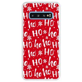 Capa Hapdey Para Samsung Galaxy S10 Design Pai Natal Padrão Hohoho Capa de Silicone Flexível Em TPU - Transparente