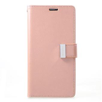 Capa Magunivers PU rico diário Dourado rosa para Samsung Galaxy S10