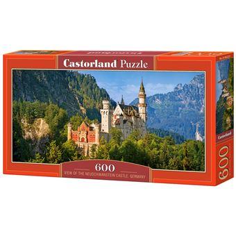 Puzzle Castorland View of the Neuschwanstein Castle, Germany 600 Peças