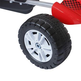 Kart HomCom Carro de Pedais com Assento Ajustável para Crianças 3-8 Anos de Carga 30kg 80x49x50cm em Aço Vermelho