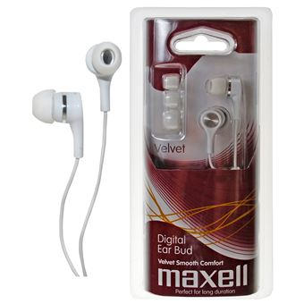 Auriculares Maxell Velvet Digital Ear Buds Branco