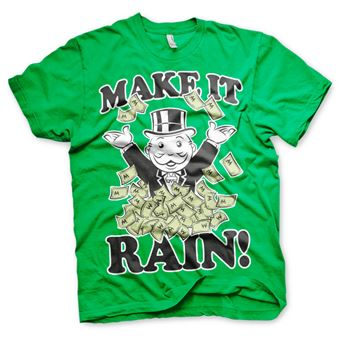 T-shirt Monopoly - Make It Rain | Verde | L