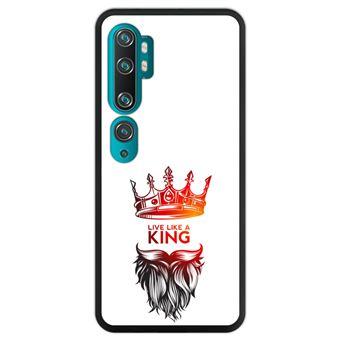 Capa Hapdey para Xiaomi Mi Note 10 - Note 10 Pro - CC9 Pro | Silicone Flexível em TPU | Design Viva como um rei - Preto