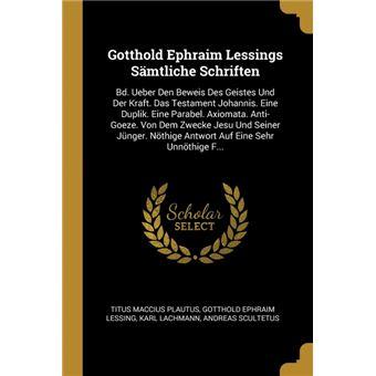 gotthold Ephraim Lessings Sämtliche Schriften Paperback -