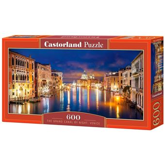 Puzzle Castorland The Grand Canal by Night, Venice 600 Peças