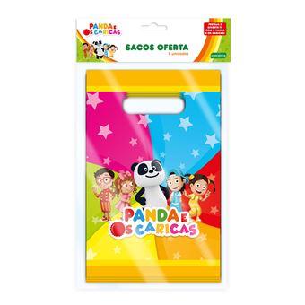 Sacos Panda e Caricas   8 Peças