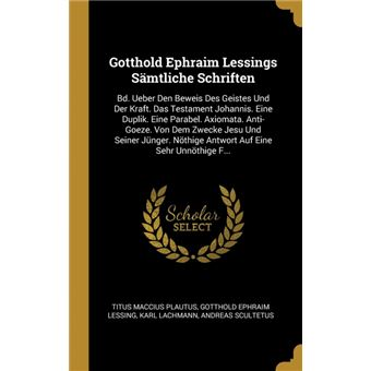 gotthold Ephraim Lessings Sämtliche Schriften Hardcover