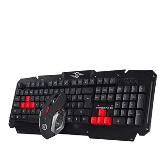 Teclado Gaming Woxter Stinger FX 95 W Kit  Vermelho