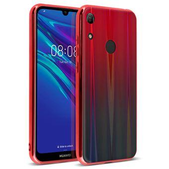 Capa Holograma Avizar para Huawei Y6 2019 Coleção Aurora Vermelho