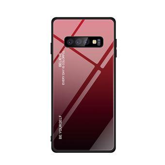 Capa TPU Magunivers vidro de gradiente vermelho para Samsung Galaxy S10