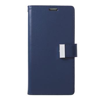 Capa Magunivers PU rico diário azul escuro para Samsung Galaxy S10