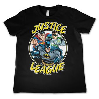 T-shirt para Criança Justice League Team | Preto | 4 Anos