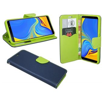Capa Lmobile Flip Carteira / Livro Fancy Samsung Galaxy A50 Azul Marinho / Lima