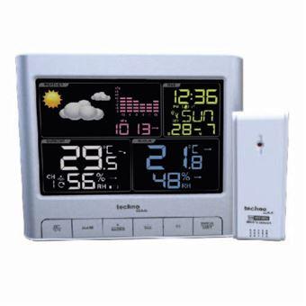 Estações meteorológicas digitais Technoline WS 6449 Prateado Bateria